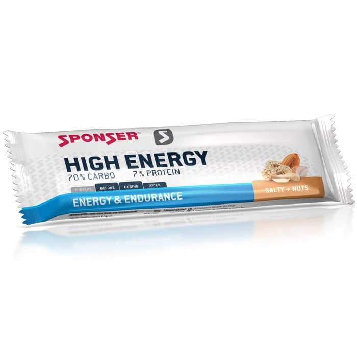 Sponser High Energy Bar Energieriegel (45 g) Salty Nuts