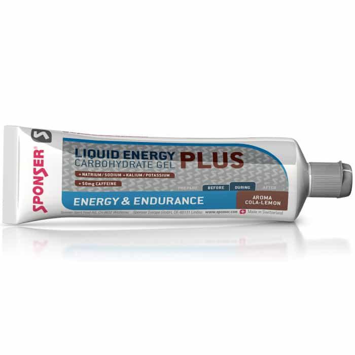 Sponser Liquid Energy Plus Cola-Lemon Energie-Gel Box (20 x 70 g)