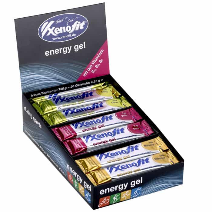 Xenofit Energy Gel Box 3-fach sortiert (30 x 25 g)