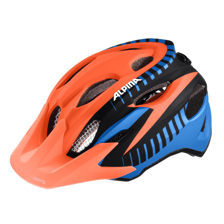 alpina carapax jr kinder fahrradhelm orange schwarz blau. Black Bedroom Furniture Sets. Home Design Ideas