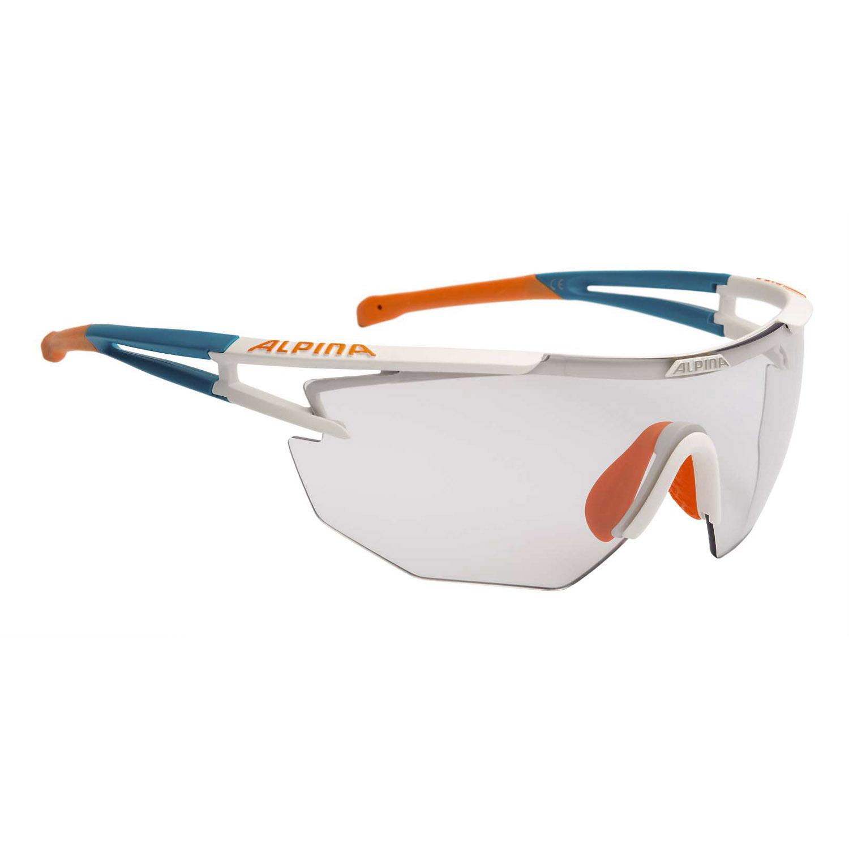 alpina radbrille eye 5 shield vl wei matt cyan orange online shop zweirad stadler. Black Bedroom Furniture Sets. Home Design Ideas