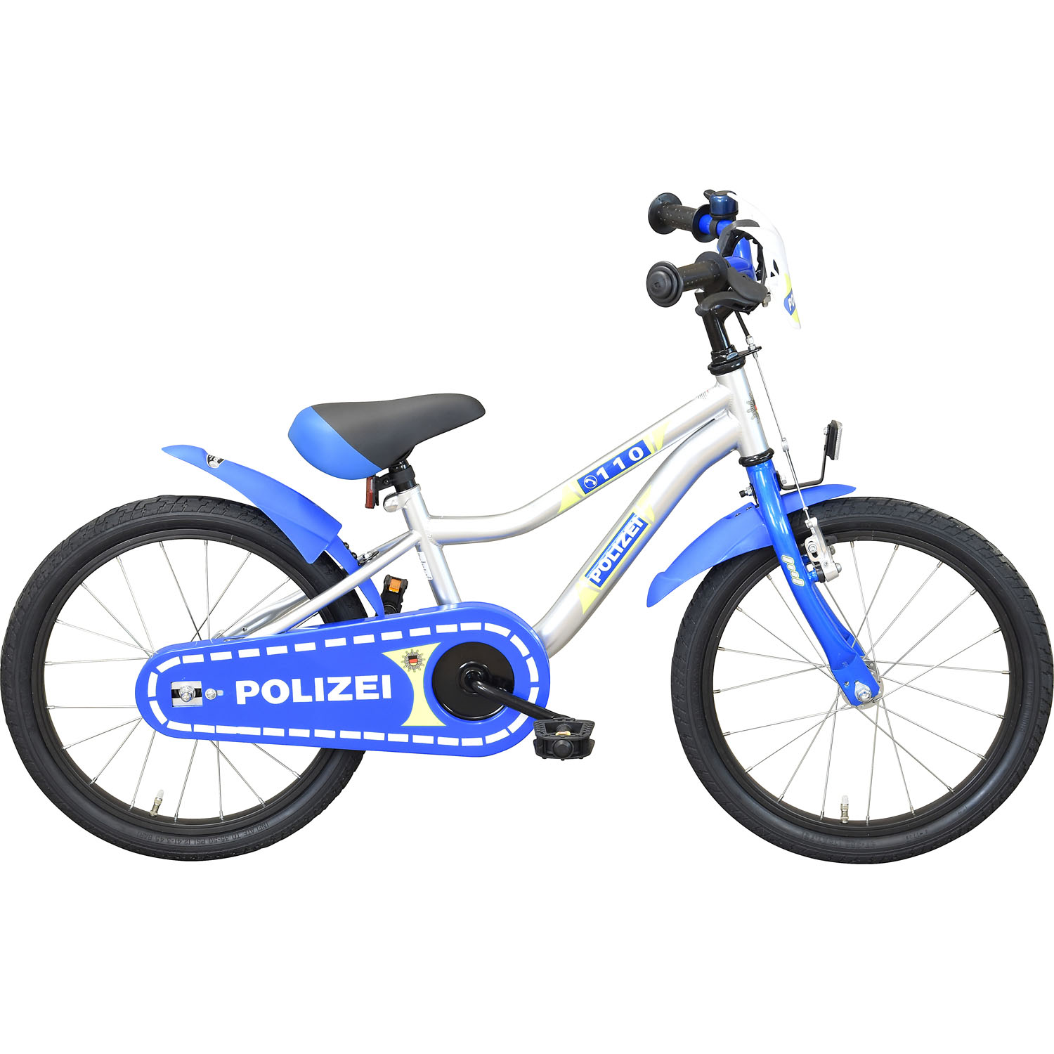 bachtenkirch streety polizei 18 zoll kinderfahrrad. Black Bedroom Furniture Sets. Home Design Ideas