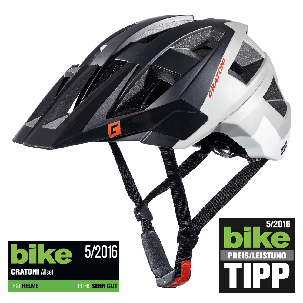 cratoni allset mtb helm black grey white matt gr e s m. Black Bedroom Furniture Sets. Home Design Ideas