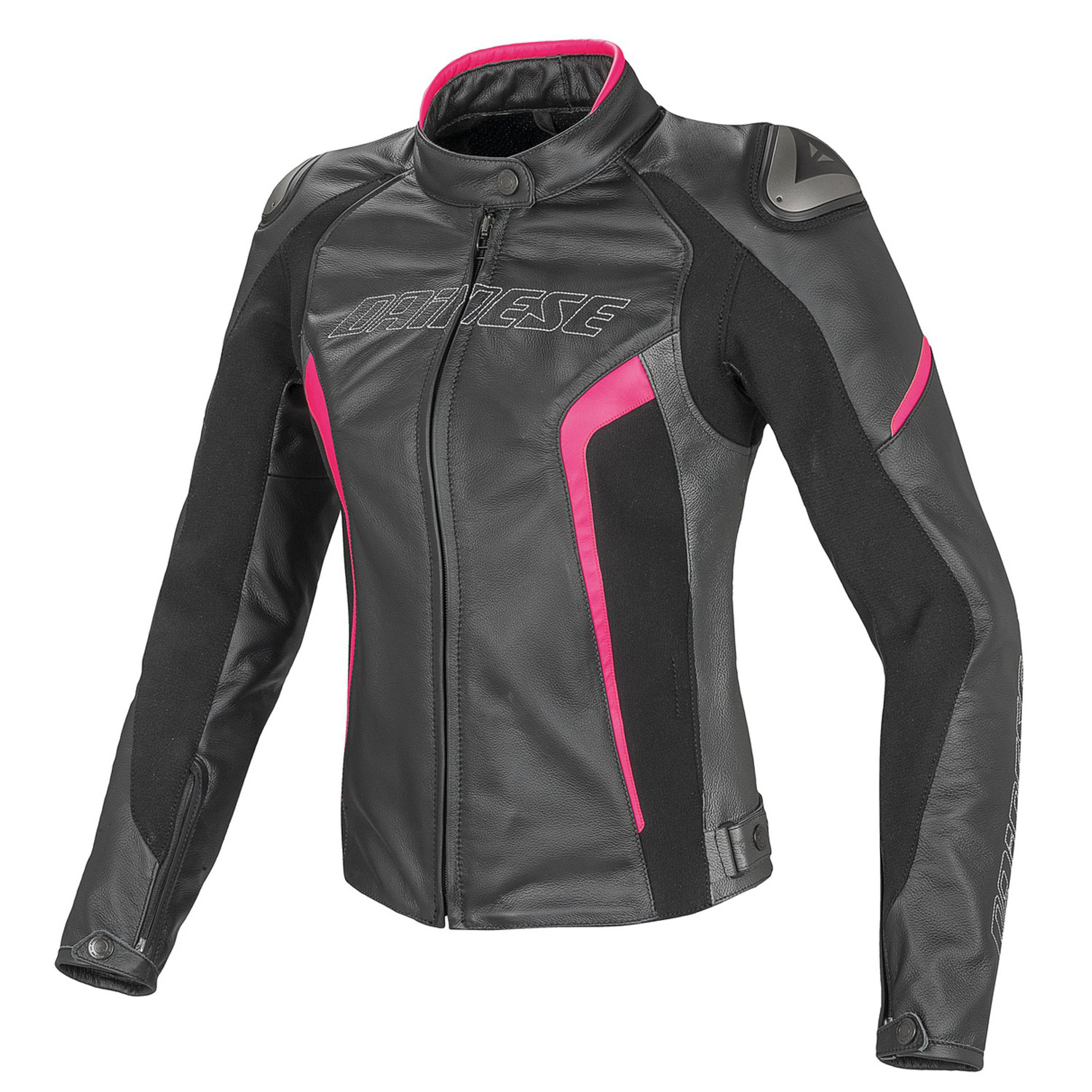 dainese racing d1 lady lederjacke schwarz anthrazit. Black Bedroom Furniture Sets. Home Design Ideas