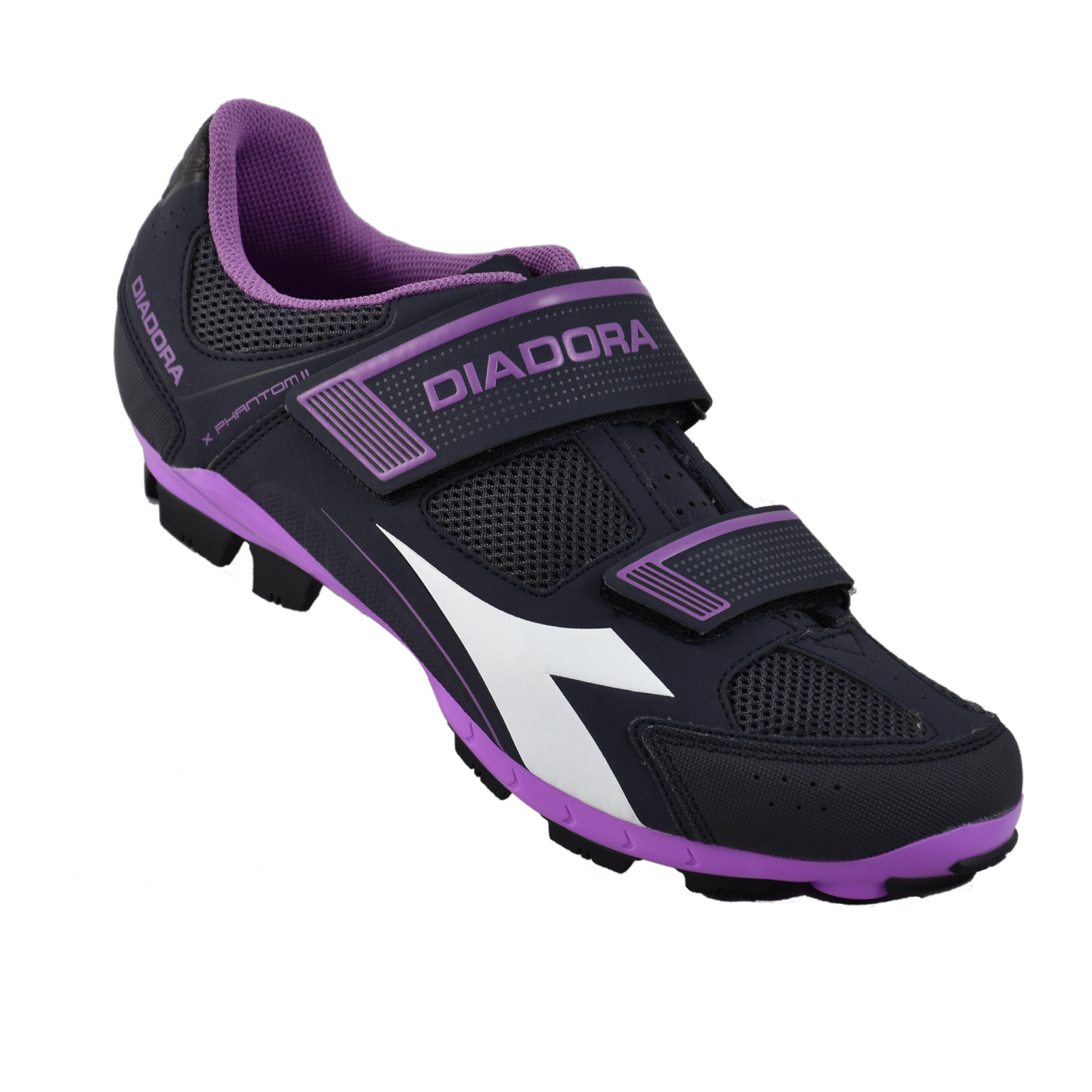 diadora mtb x phantom ii mtb schuhe grau violett gr e 37. Black Bedroom Furniture Sets. Home Design Ideas