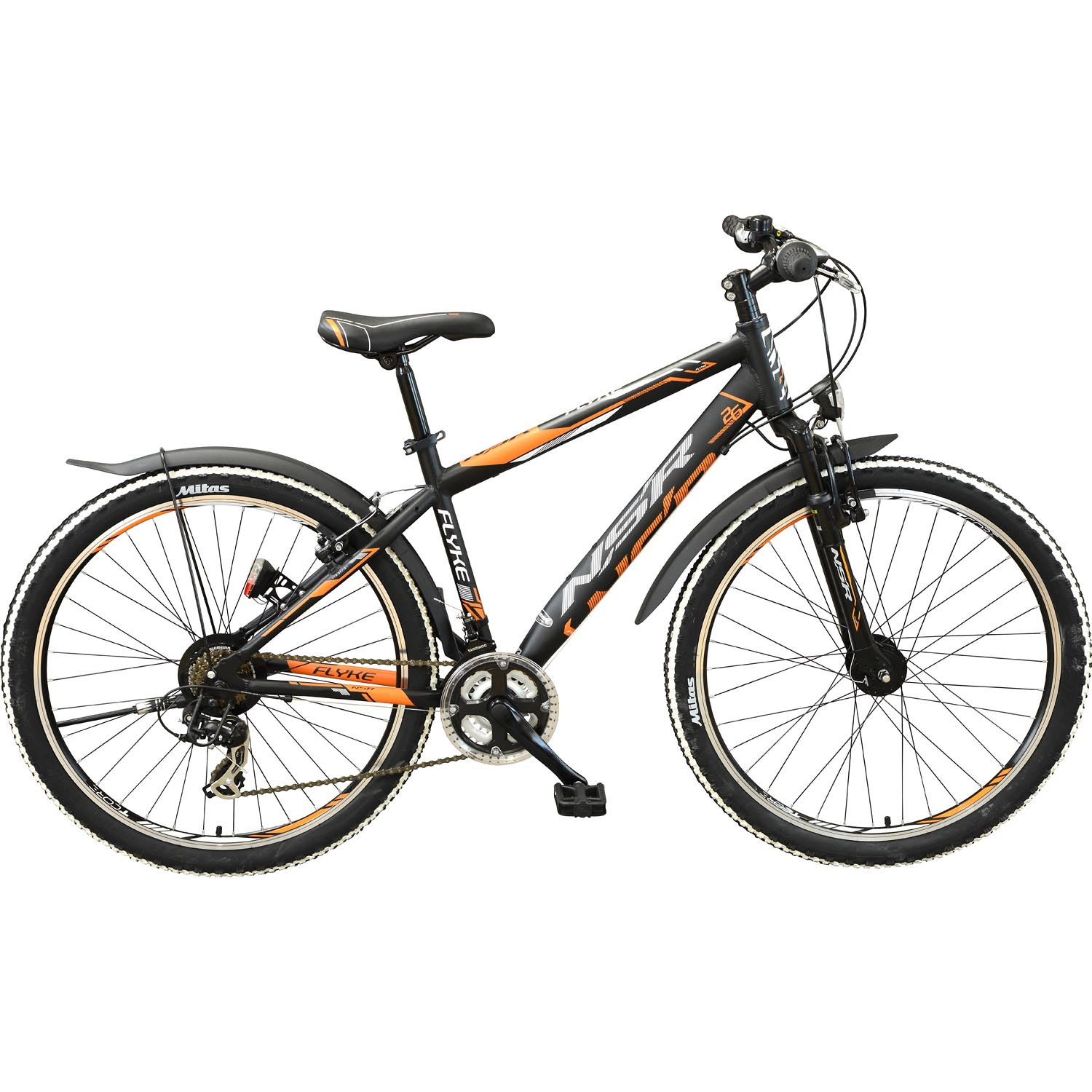 flyke mountainbike 26 zoll 38 cm schwarz orange online shop zweirad stadler. Black Bedroom Furniture Sets. Home Design Ideas