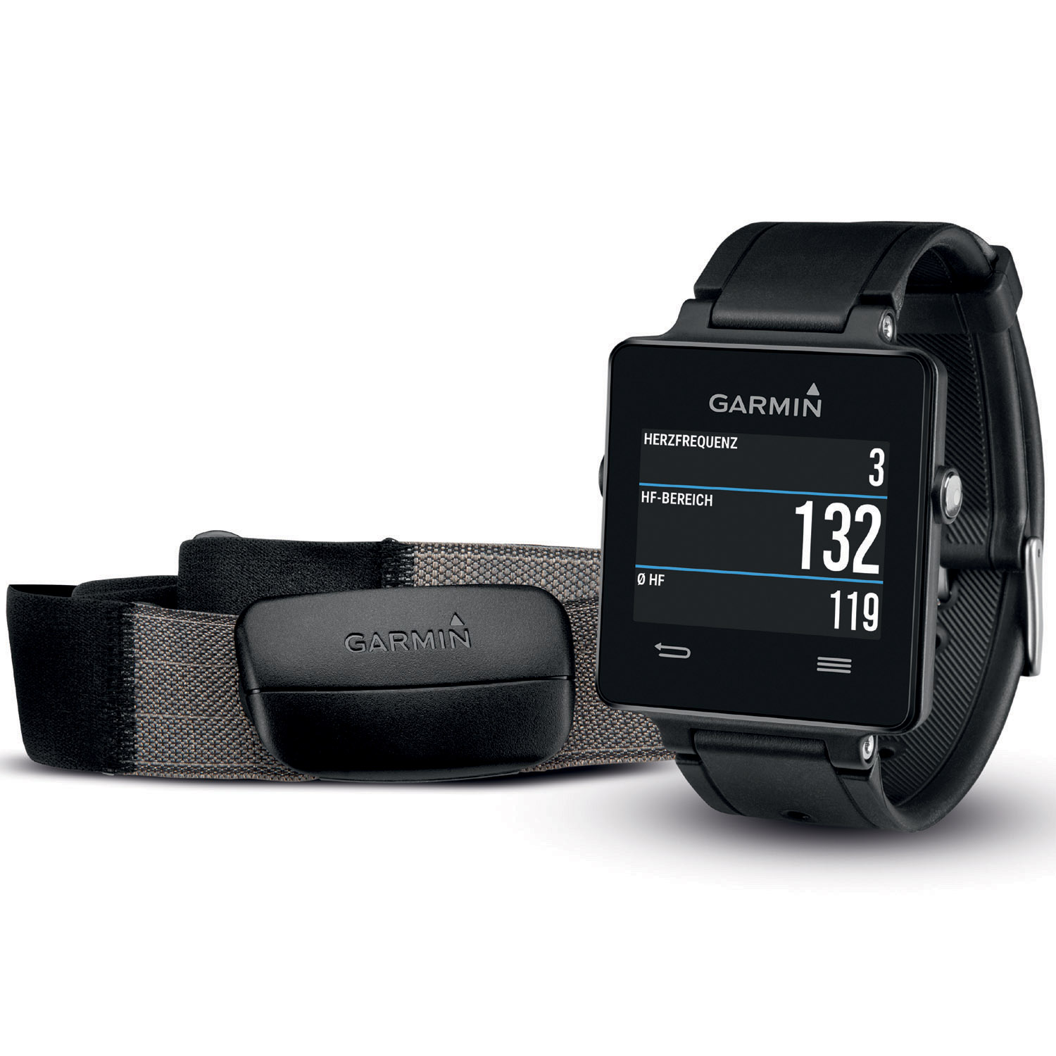 garmin gps multifunktionsuhr vivoactive hrm bundle. Black Bedroom Furniture Sets. Home Design Ideas