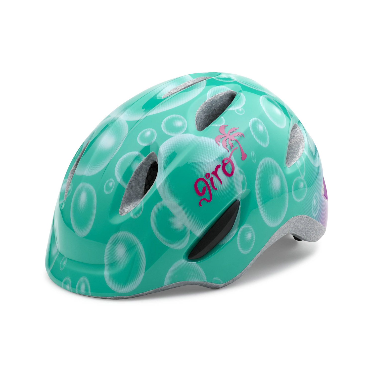 giro scamp kinder fahrradhelm turquoise bubbles gr e xs. Black Bedroom Furniture Sets. Home Design Ideas