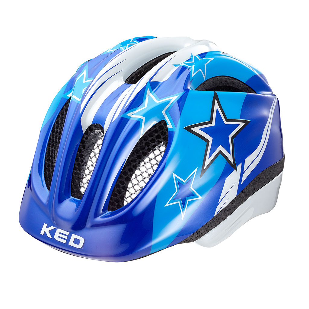 ked meggy kinder fahrradhelm blue stars gr e xs 44 49. Black Bedroom Furniture Sets. Home Design Ideas