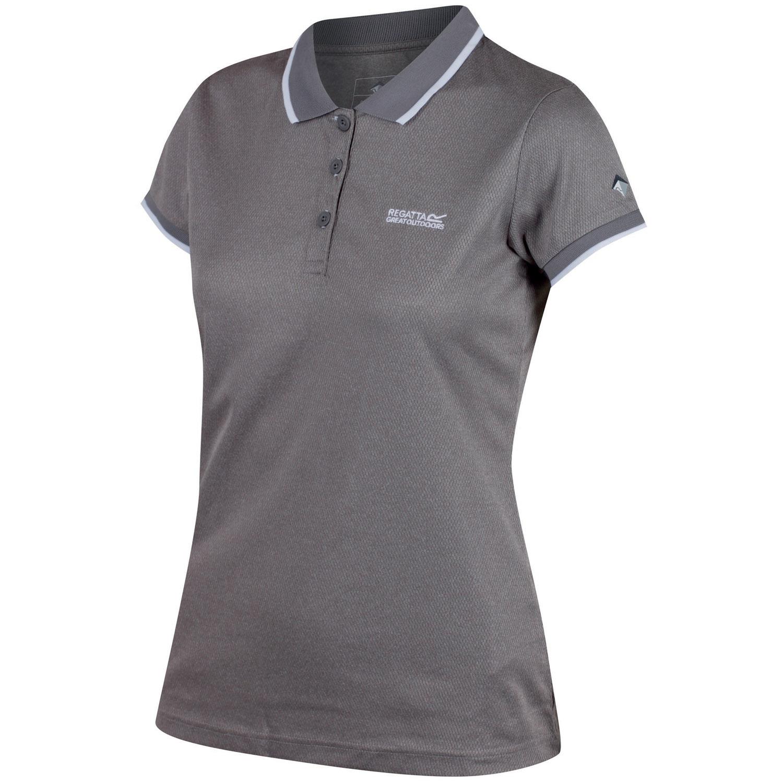 regatta remex polo shirt damen rock grey meliert gr e 38 online shop zweirad stadler. Black Bedroom Furniture Sets. Home Design Ideas