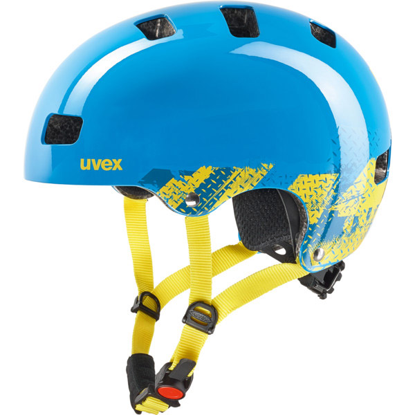 uvex kid 3 fahrradhelm kinder blau gelb gr e 55 58 cm. Black Bedroom Furniture Sets. Home Design Ideas