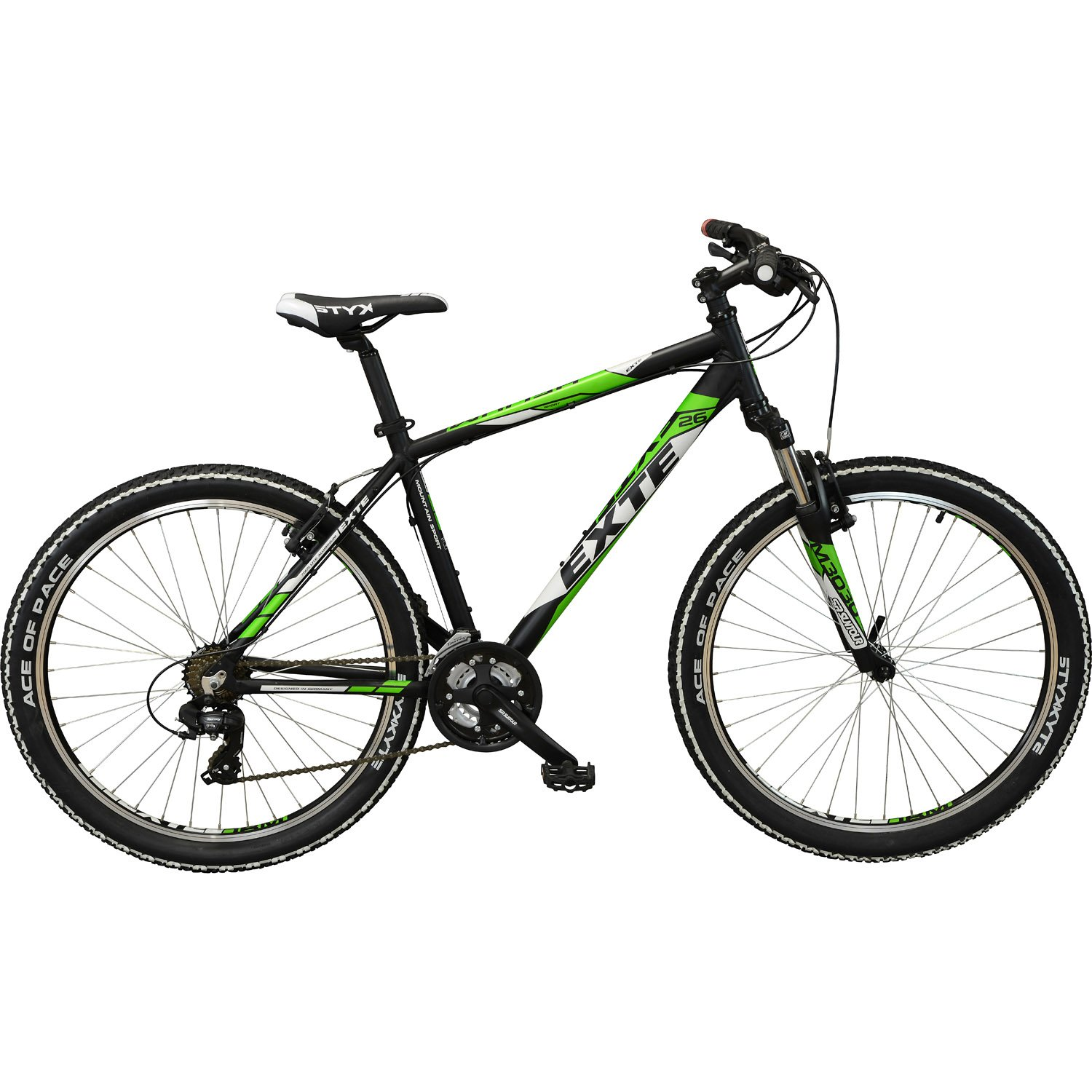 exte helium mountainbike 26 zoll neon gelb 37 cm. Black Bedroom Furniture Sets. Home Design Ideas