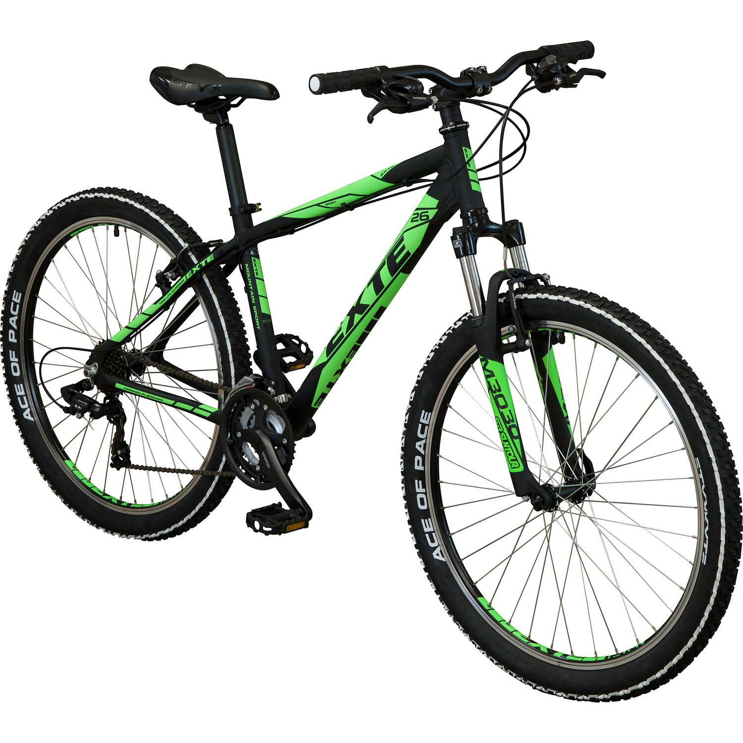 exte helium mountainbike 26 zoll schwarz neongr n 46 cm online shop zweirad stadler. Black Bedroom Furniture Sets. Home Design Ideas