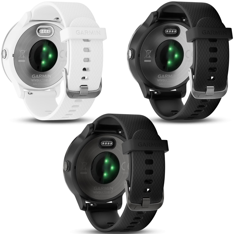 garmin vivoactive 3 gps smartwatch wei es silikonarmband edelstahl online shop zweirad stadler. Black Bedroom Furniture Sets. Home Design Ideas