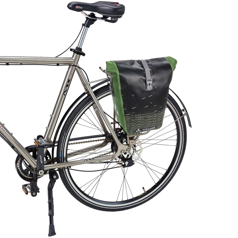vaude aqua back print single fahrradtasche canary gelb. Black Bedroom Furniture Sets. Home Design Ideas