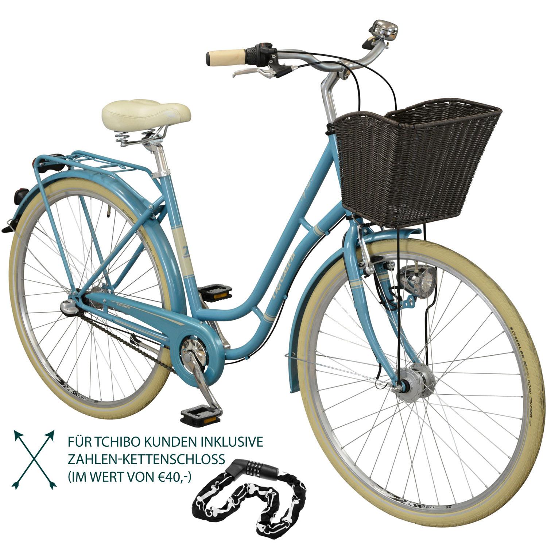 triumph city tour 3 city bike inkl fahrradschloss wei. Black Bedroom Furniture Sets. Home Design Ideas
