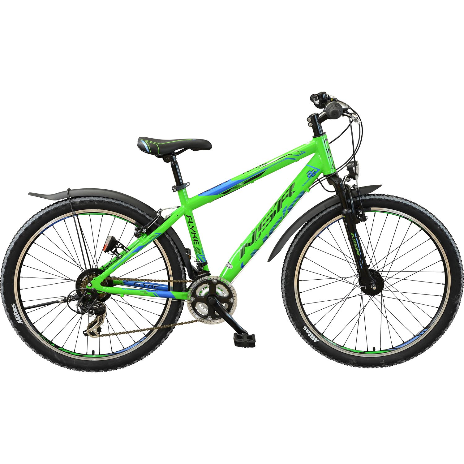 flyke mountainbike 26 zoll 47 cm schwarz gr n online. Black Bedroom Furniture Sets. Home Design Ideas
