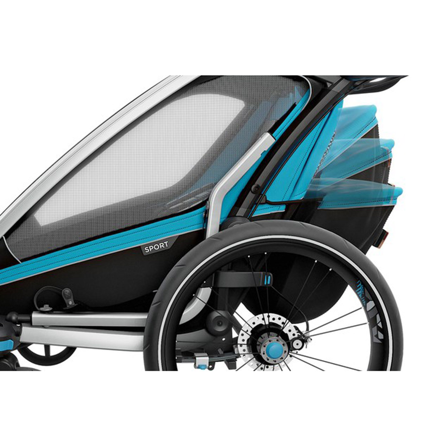 thule chariot sport 2 kinderanh nger thule 2017 blue black. Black Bedroom Furniture Sets. Home Design Ideas